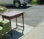 vintage table reptop